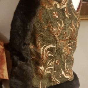 Buffalo David Bitton Other - Brocade/ silk embroidered vest with a knot infront